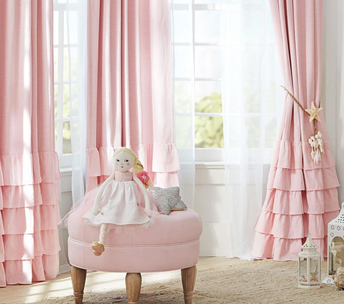 Bedroom Curtains Room Darkening Curtain Ruffle Blackout Curtains Kids Room Darkening