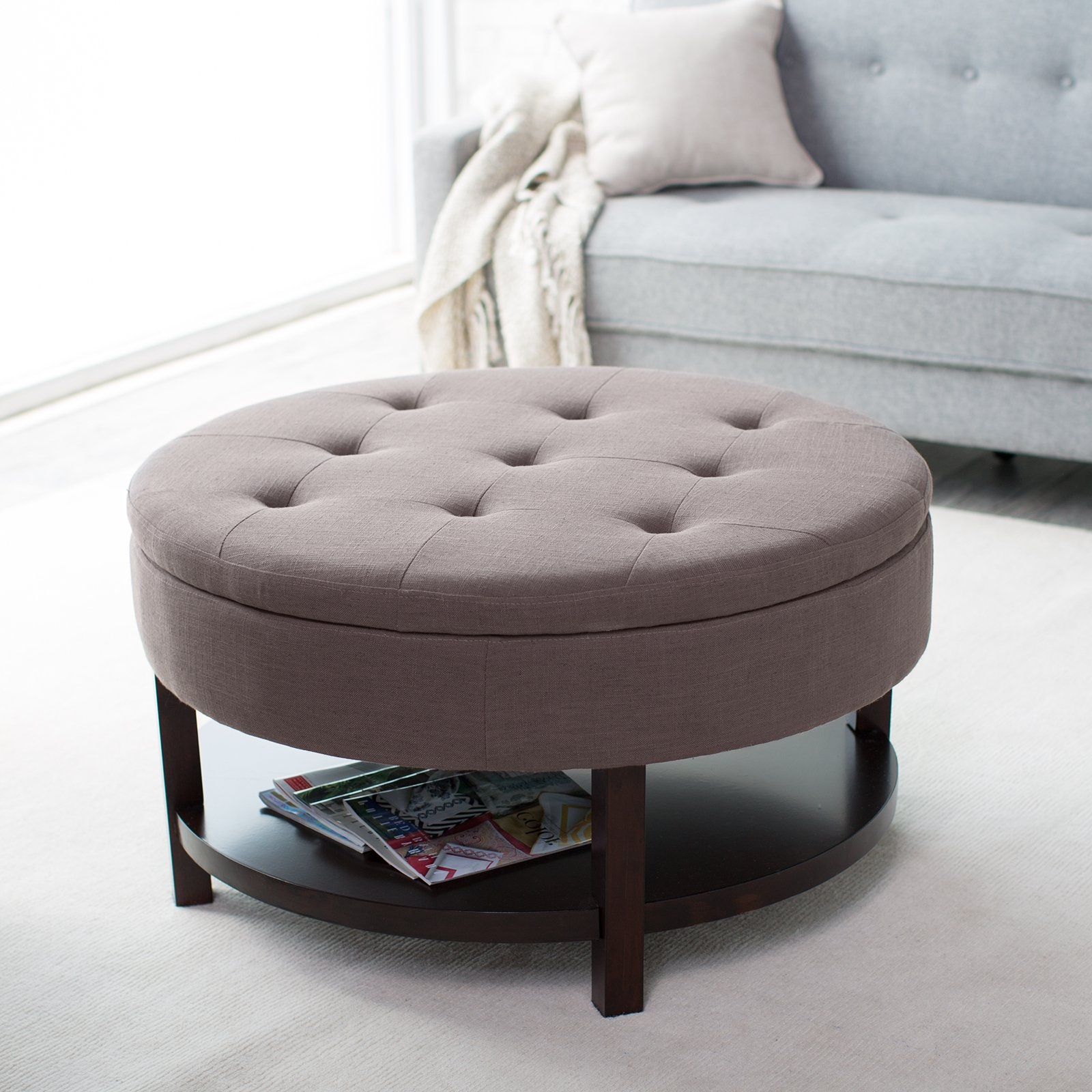 Colorful Ottoman Coffee Table Furniture Extra Large Ottoman For Large Space Living Room Design