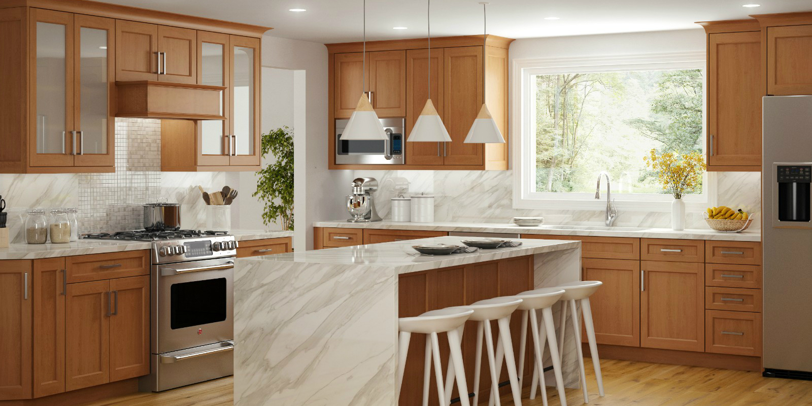 Lowes Kitchen Cabinets Per Linear Foot Latitude Cabinets At Lowe S Modern Frameless Kitchen And Bath