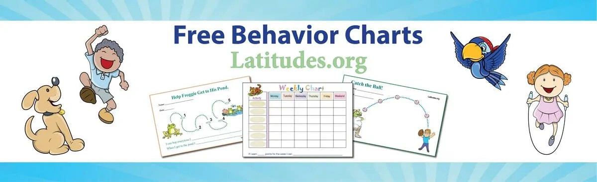 FREE Printable Behavior Charts for Home and School ACN Latitudes - Kids Behavior Chart Template