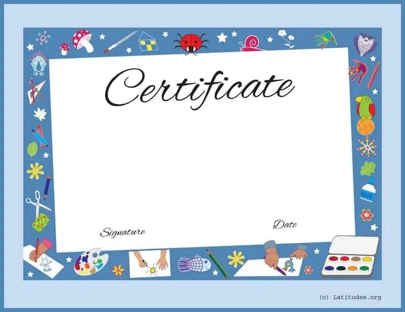 FREE Award Certificate (Artwork Achievement) ACN Latitudes - certificate of achievement for students