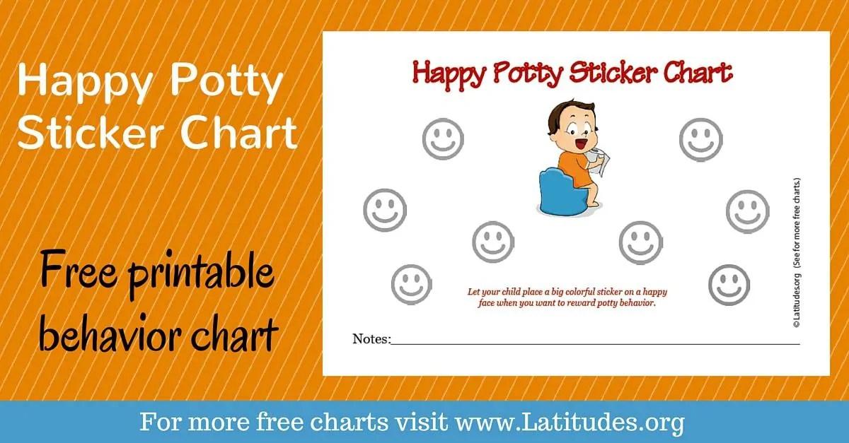 FREE Potty Training Sticker Chart (Happy Boy) ACN Latitudes