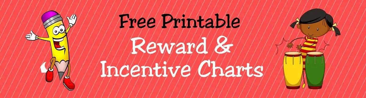 FREE Printable Reward  Incentive Charts for Kids ACN Latitudes
