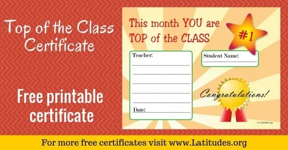 FREE Printable Award Certificates for Teachers  Students ACN - free award certificates