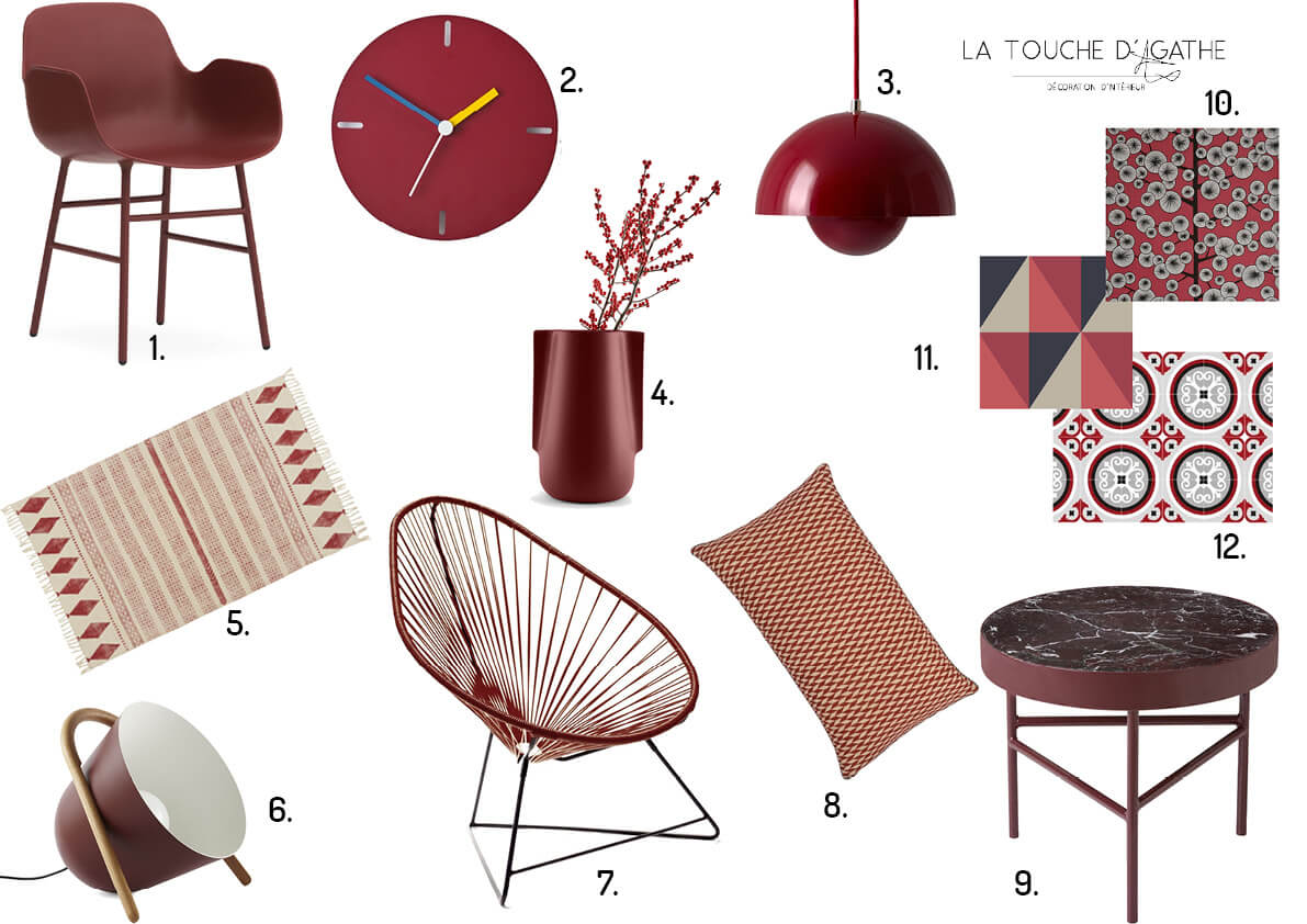 Decoratrice Bordeaux Blog La Touche D Agathe List Shopping Couleur Bordeaux