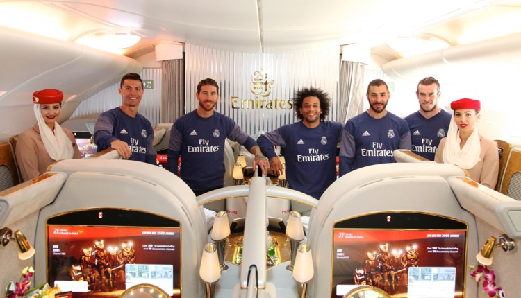 Emirates unveils a new Real Madrid A380 decal