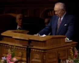 President Hinckley's Reads Presindent Benson's Talk