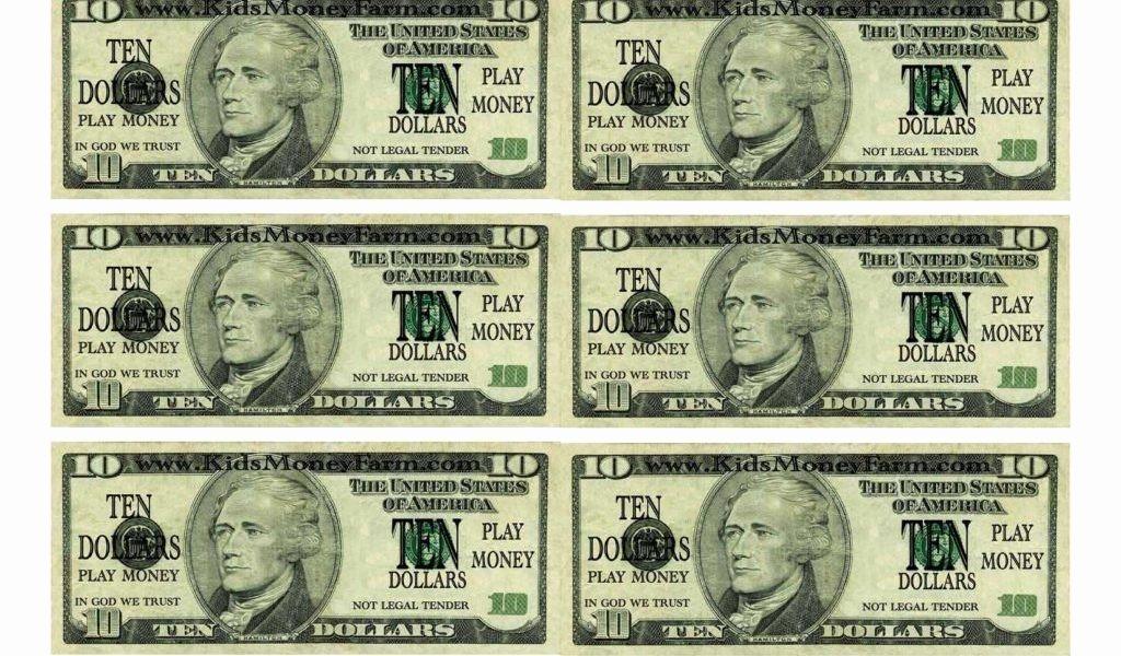 customizable fake money template