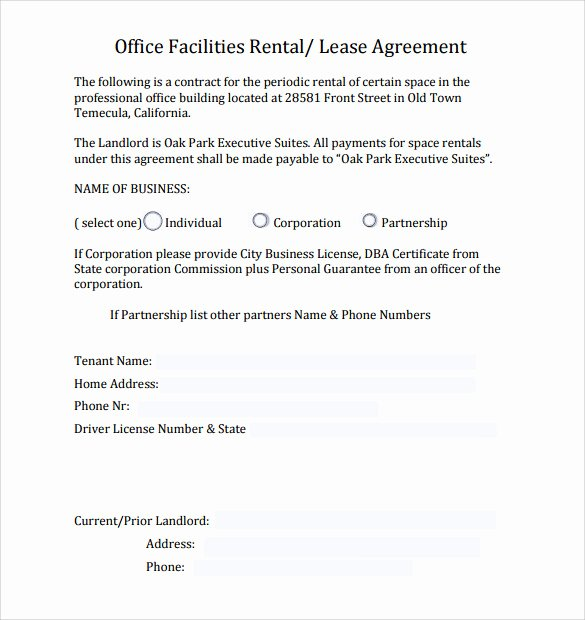 Office Lease Agreement Template Latter Example Template