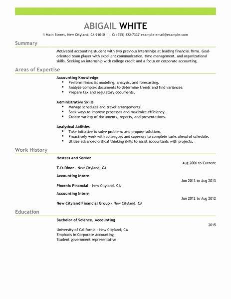 Best Training Internship Resume Example \u2013 Latter Example Template