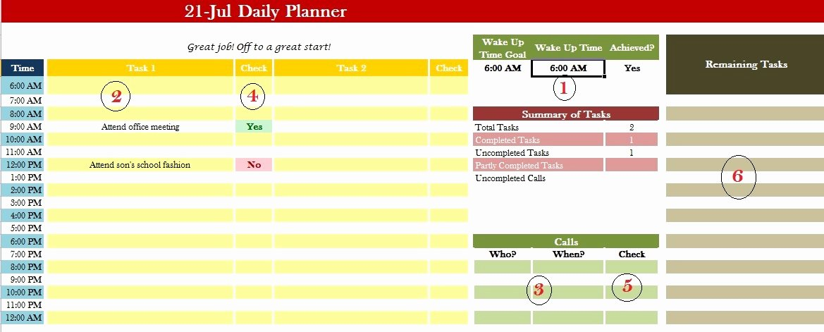 Daily Calendar Template Excel Latter Example Template