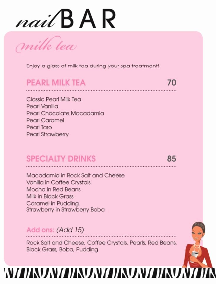 Nail Salon Price List Template Latter Example Template
