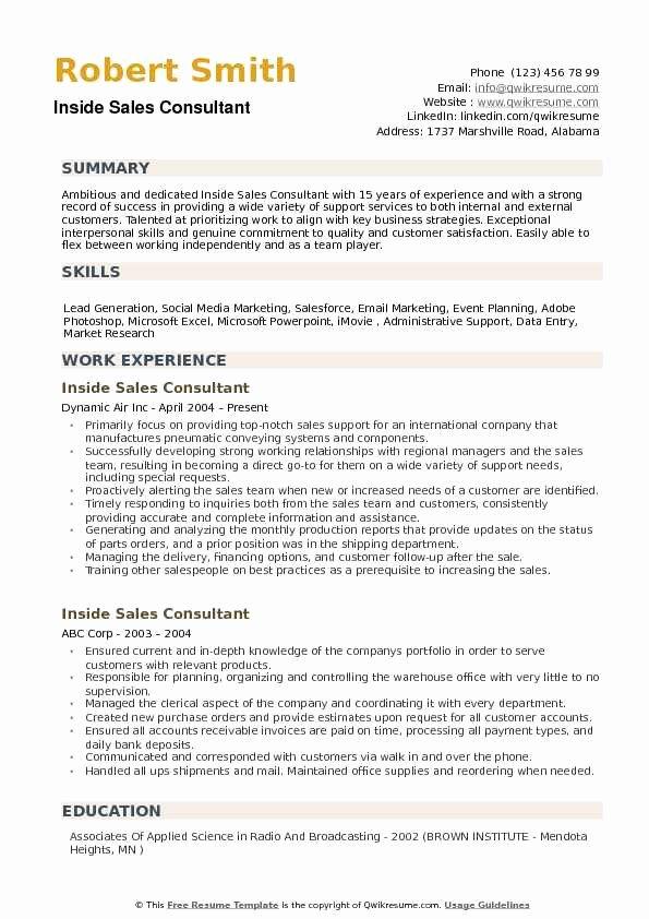 Inside Sales Resume Samples \u2013 Latter Example Template