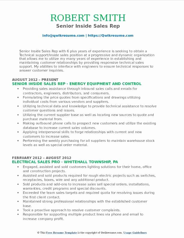 Inside Sales Consultant Resume Samples \u2013 Latter Example Template
