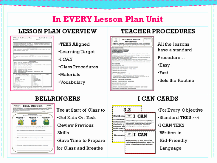 Teks Lesson Plan Template Latter Example Template