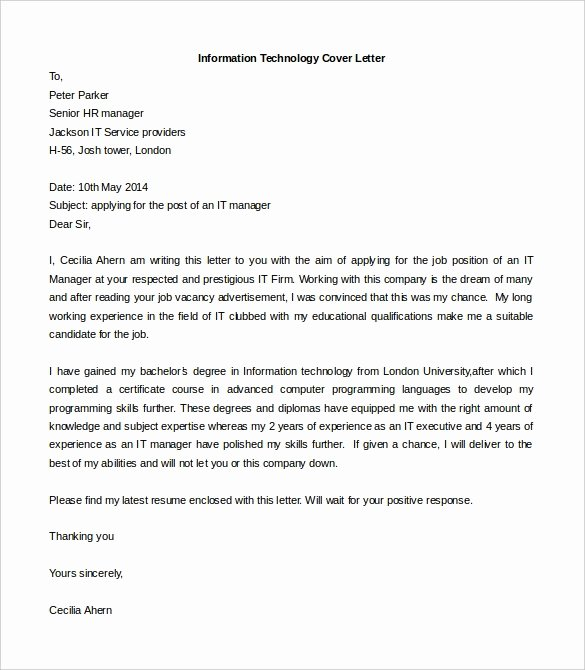 Professional Cover Letter Templates Latter Example Template