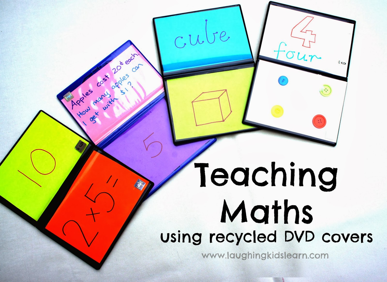Teaching Maths Teaching Maths Using Recycled Dvd Covers Laughing Kids Learn