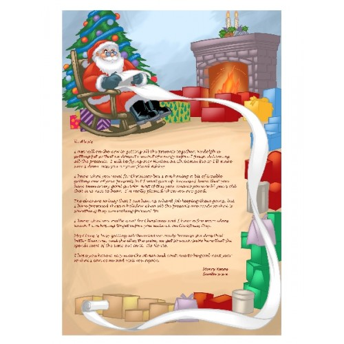 Letter from Santa - personalized to your child addressed and mailed