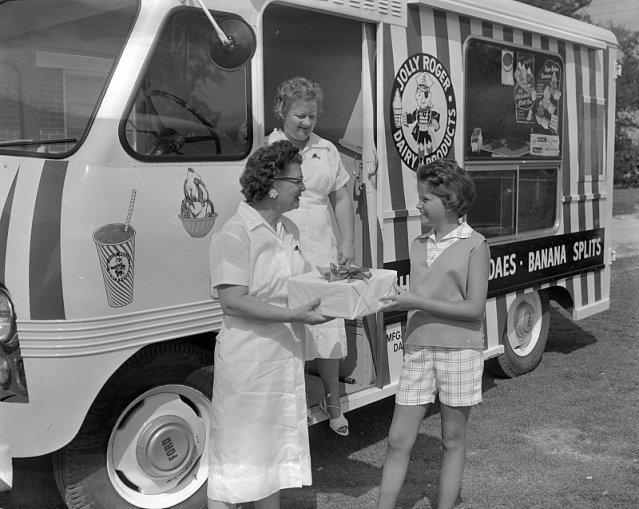 jolly roger ice cream truck, 1960