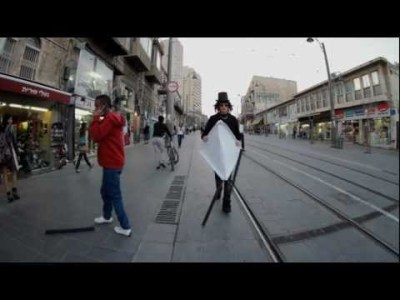 Amazing Backwards/Forwards Video of a Man Strolling in Jerusalem