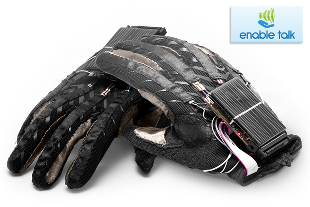 EnableTalk Sign Language to Voice Gloves