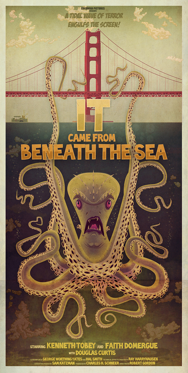 It Came From Beneath The Sea by James Gilleard