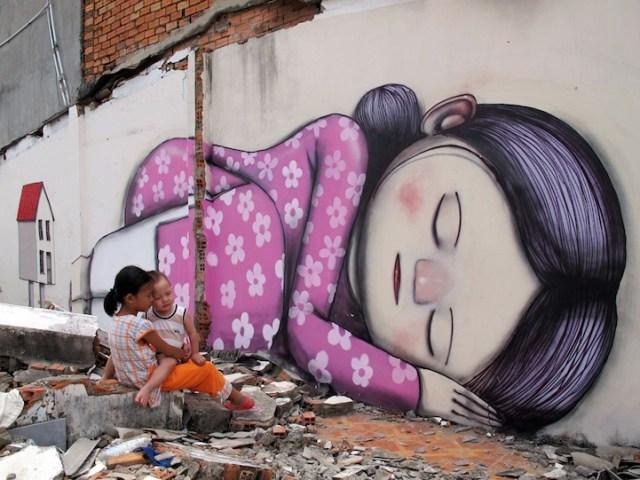 Street art by Julien Malland