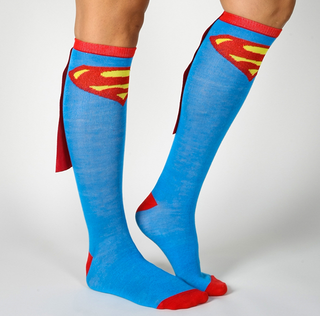 Superman Caped Knee High Socks