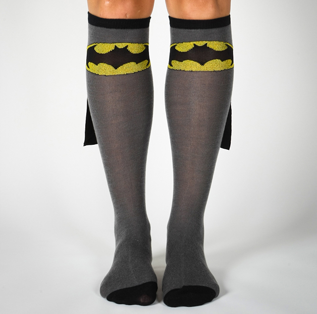 Batman Caped Knee High Socks