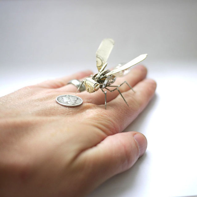 Mechanical insect sculptures by Justin Gershenson-Gates