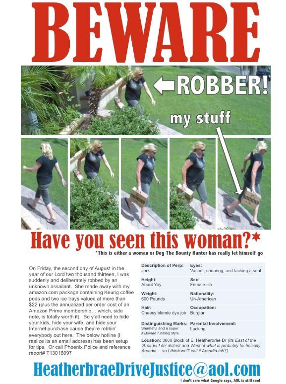 Amazon thief wanted poster