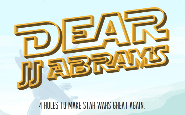Dear J.J. Abrams