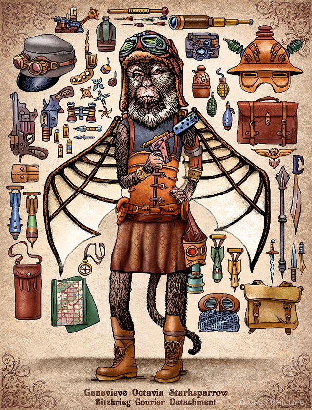 StarkSparrow - Steampunk Monkey Nation and Gear