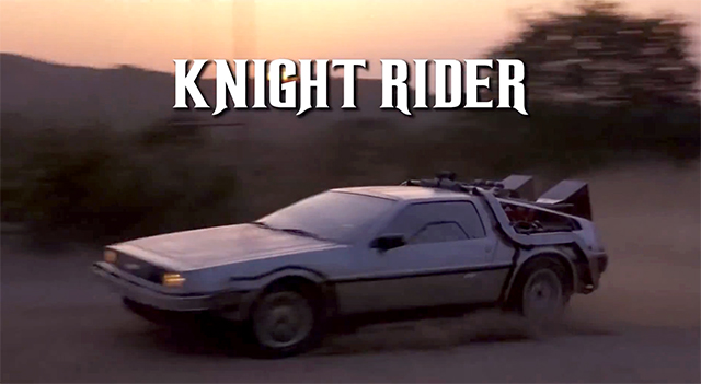 Back to the Future and Knight Rider Intro Mashup