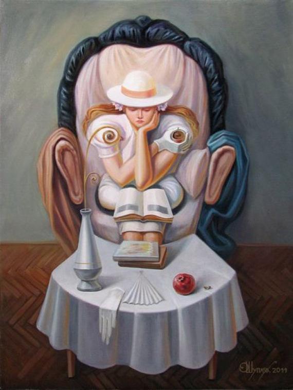 Optical illusion portraits  by Oleg Shuplyak