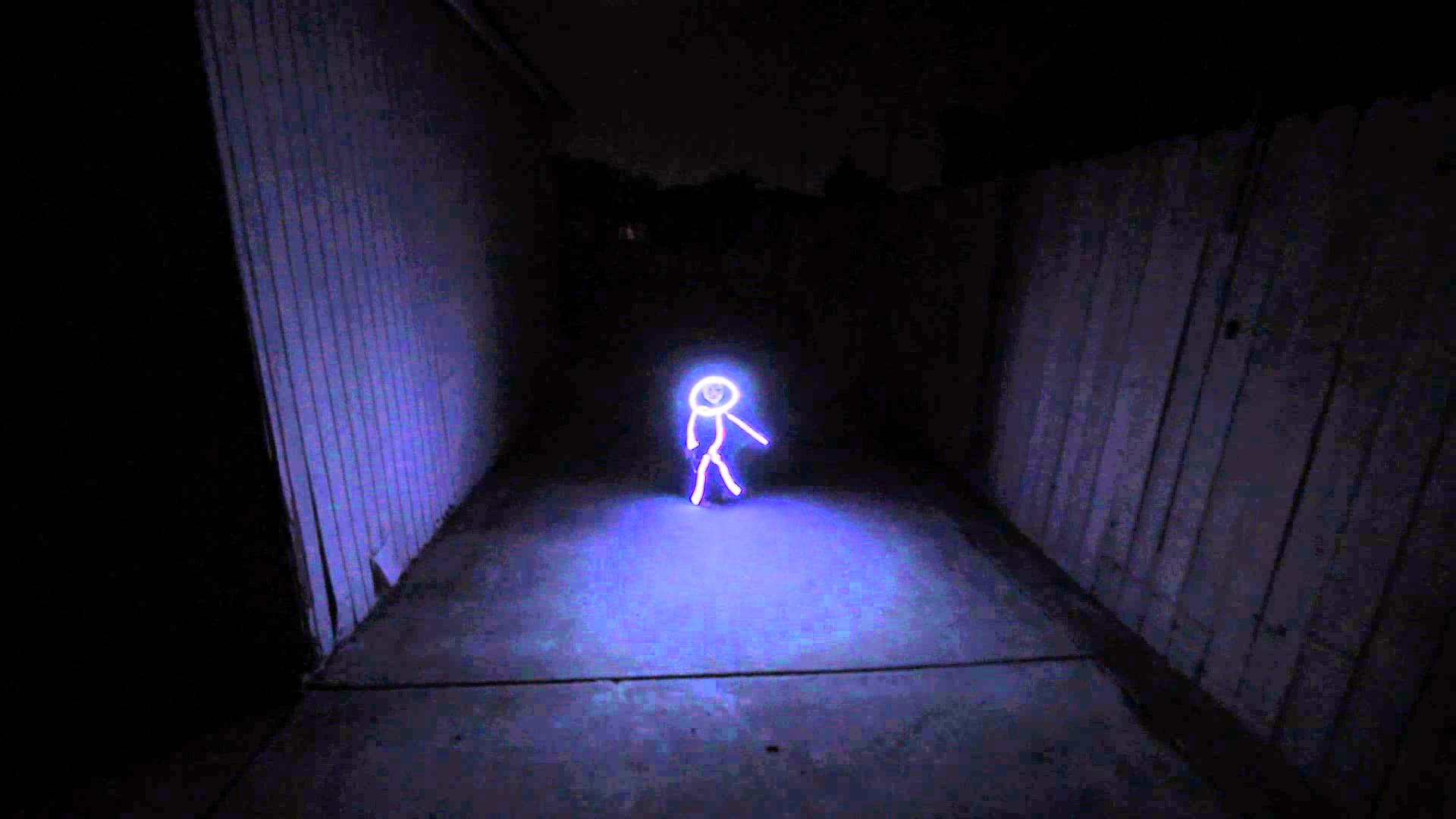 Cute Skeleton Girl Wallpaper Baby Dressed Up As A Glowing Led Stick Figure For Halloween