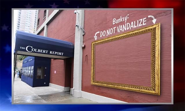 Colbert Report Frame For Banksy