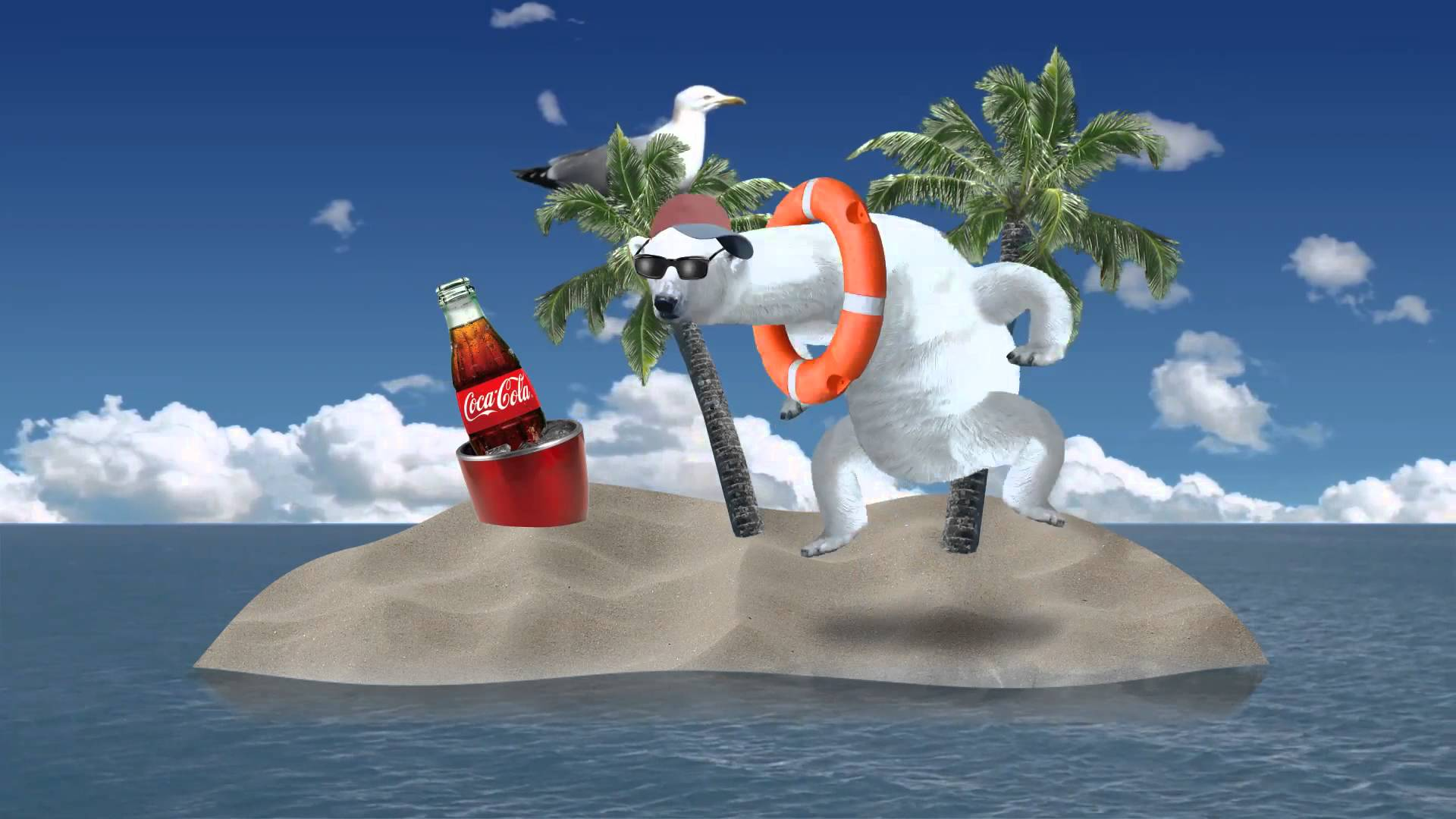 Animated Bear Wallpaper Polar Party An Animated Interactive Ad For Coca Cola By