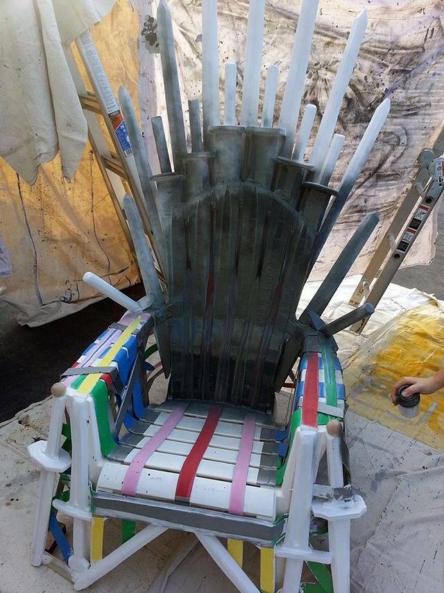 Homemade Replica of the Iron Throne