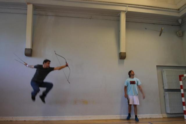 Lars Andersen jumping archery