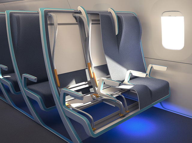 Morph, Clever Aircraft Seating Concept Has Adjustable Fabric-on-Frame Design