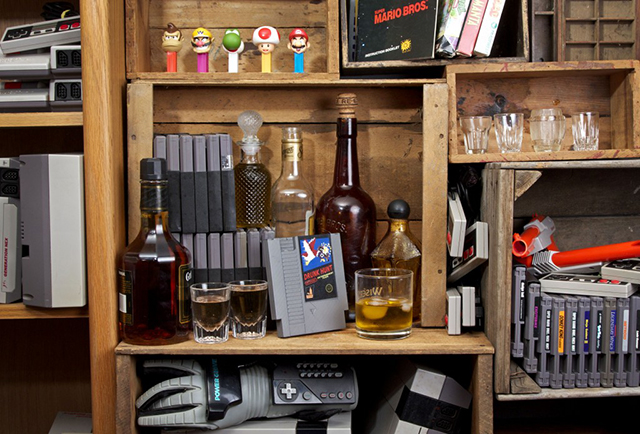 Nintendo Whiskey Flasks