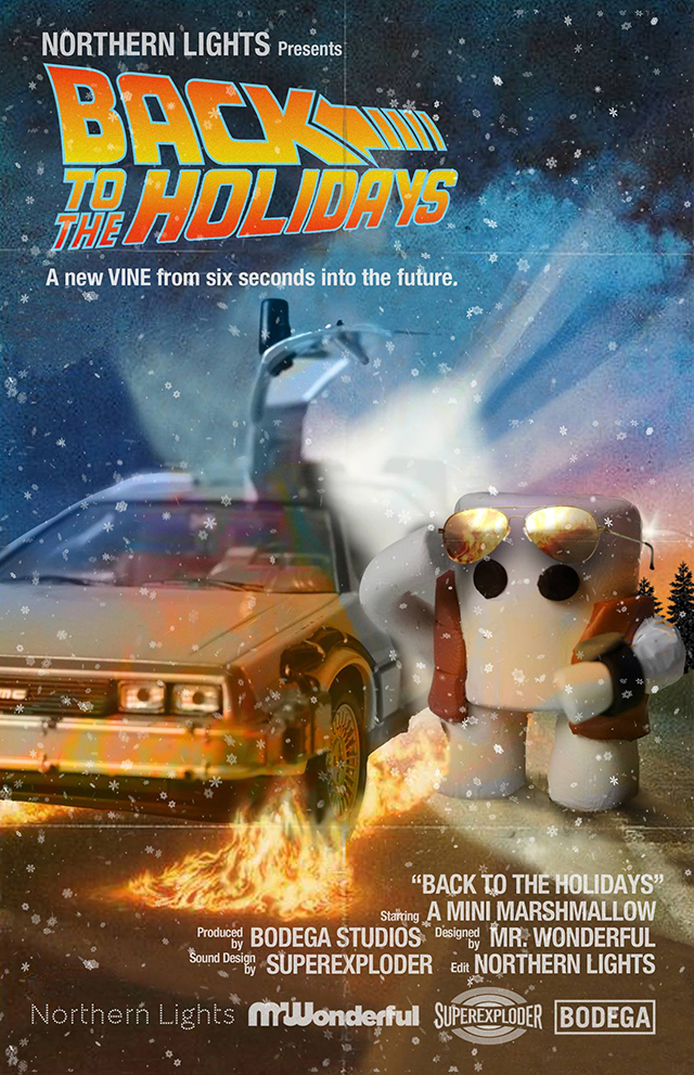 Stop Motion 'Back to the Future' Vine Video of a Marshmallow Time Traveling in a DeLorean