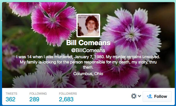 Murder Victim Bill Comeans on Twitter