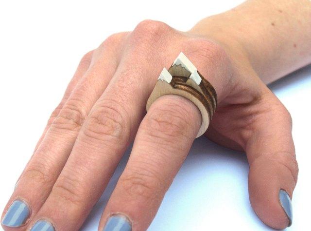Laser Cut Rings with Mini Dioramas