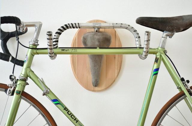 Salvaged Bike Part Hunting Trophy Sculptures