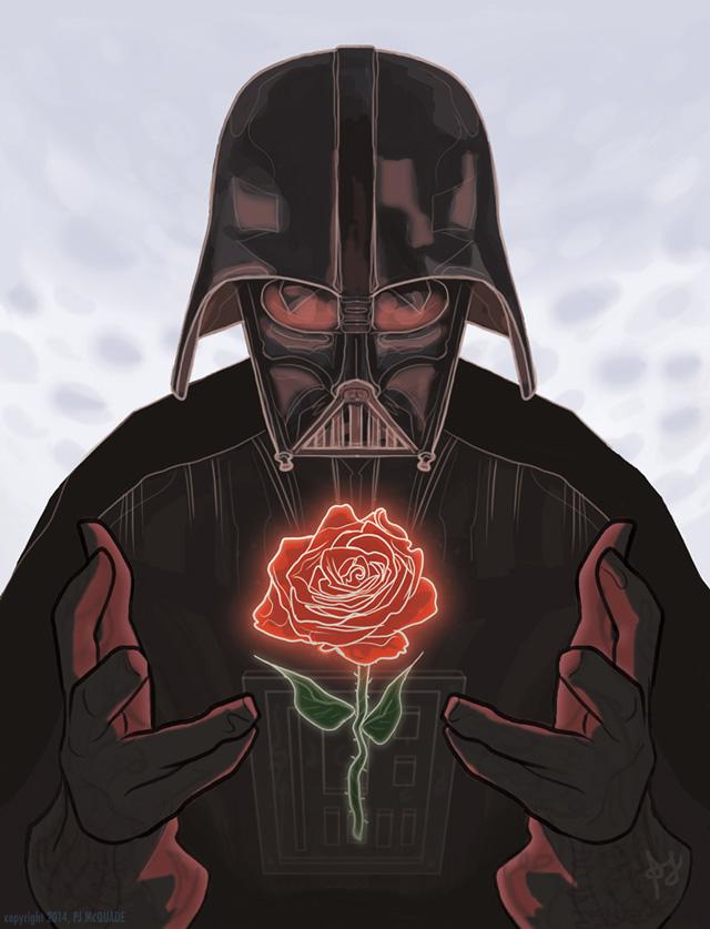 Darth Vader Valentines Day Card