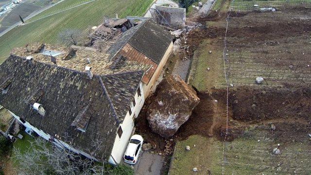 Boulder Destroys Family Farm in South Tyrol, Italy