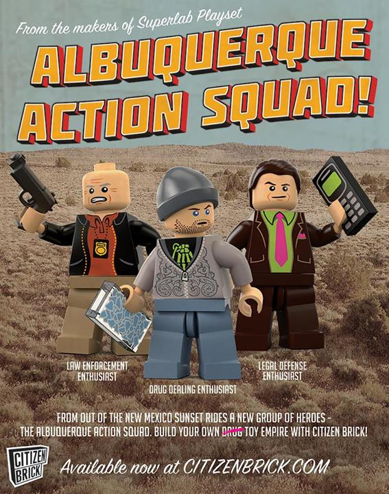Breaking Bad LEGO Minifig Poster
