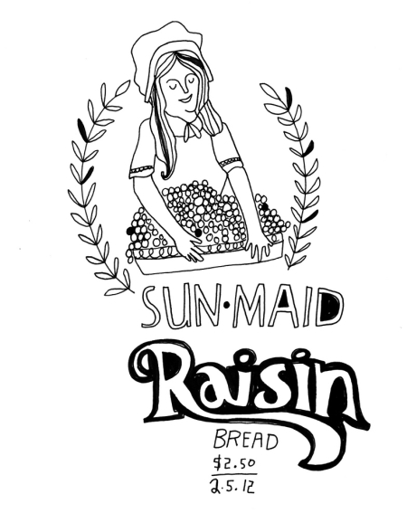 Daily Purchase Drawings Raisin Bread